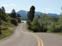 Motorcycle Roads Cascade to Holter Lake along the Missouri River