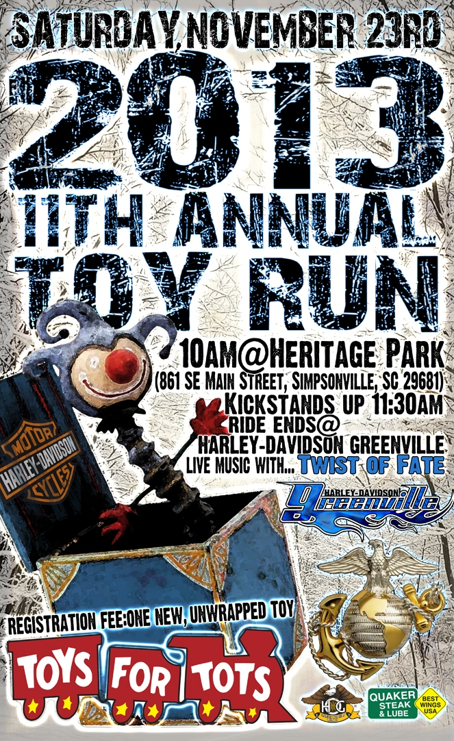 Toys For Tots Motorcycle Events : Th annual toys for tots toy run motorcycle event in