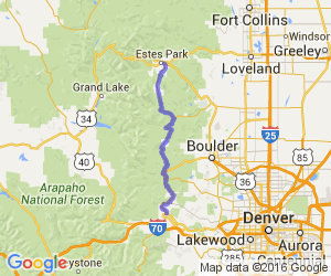 Find Motorcycle Roads Trips And Events In Colorado USA - Map of colorado highways