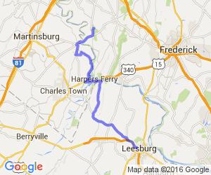 Leesburg Va To Antietam National Battlefield Md